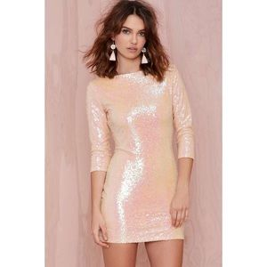 Sequin pink mini dress from Nasty Gal